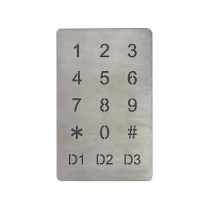3×5 custom LED color backlight illuminated metal infrared sensor touch keypad B809