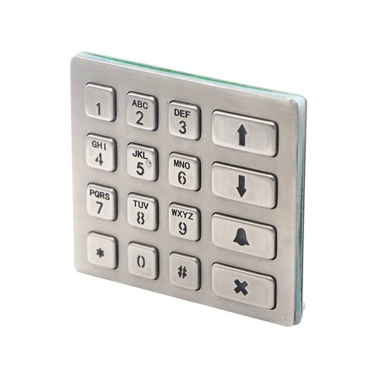 16keys 4×4 matrix numeric backlight access control illuminated metal keypad B801 Featured Image