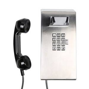 Sip phone communications system IP65 stainless steel telephone