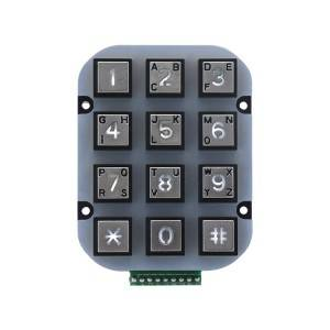 3×4 matrix numeric waterpoof garage entry system keypad-B663