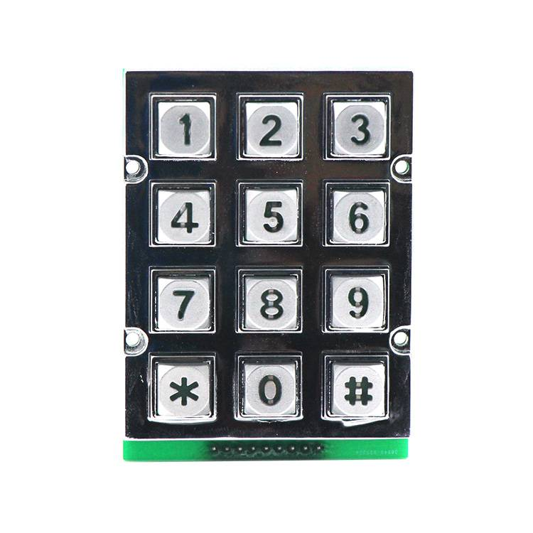 New arrivals zinc alloy 12 keys Kiosk LED illuminated matrix keypad-B665 Featured Image