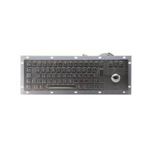 Industrial Kiosk vandal proof trackball backlight USB keyboard-B807