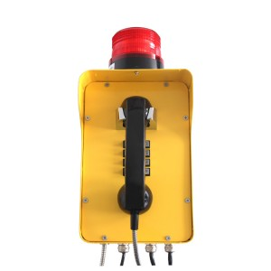Yellow Dispatch system Telephone Wall mounted Warning light telephone