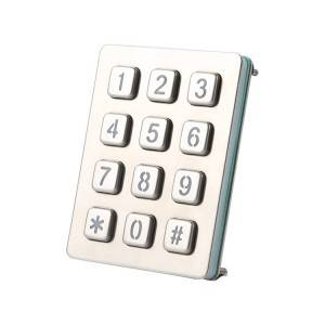 Car parking system keypad guard patrol system backlight keypad-B880