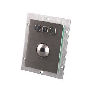 Vandal proof trackball keypad for military use-B805