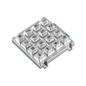 XH plug 16 keys backlight sliver color industrial keypad-B660
