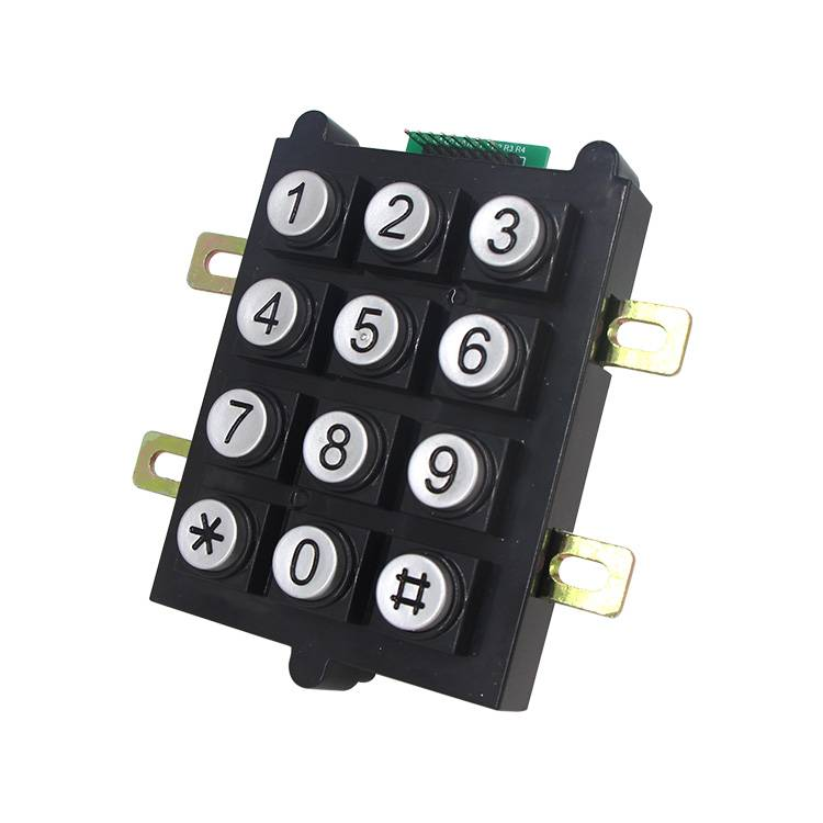 Mini numeric plastic 12 keys keypad numeric keypad for vending machine B102 Featured Image