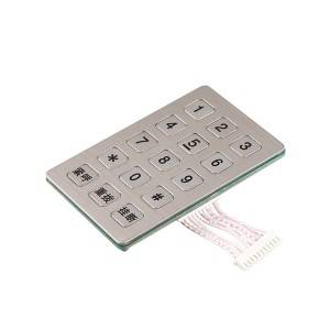 Vandal proof emergency telephone SOS 15 keys keypad-B722