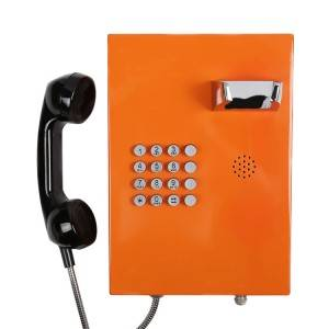 Orange Bank Telephone IP54 SIP Public Phone