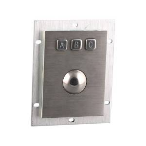 Stock Application waterproof trackball keypad with USB-B805
