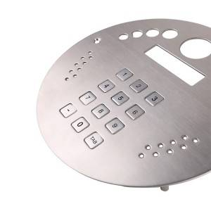 3×4 12keys with function button matrix numeric stainless steel entry system keypad B702