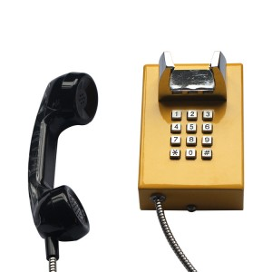 Yellow Rolled Steel Telephone JWAT145
