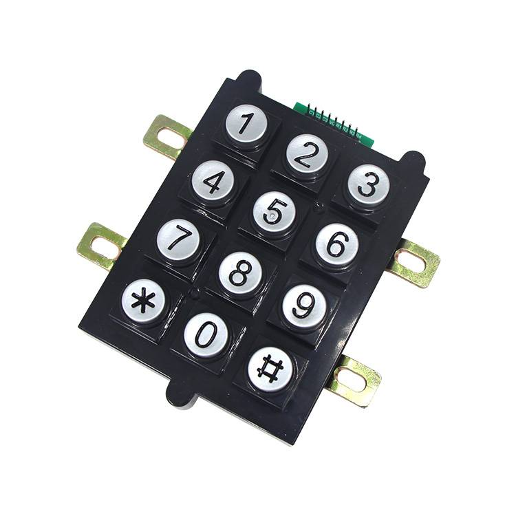 12keys flame resistant plastic  round buttons keypad for industrial area  B102 Featured Image