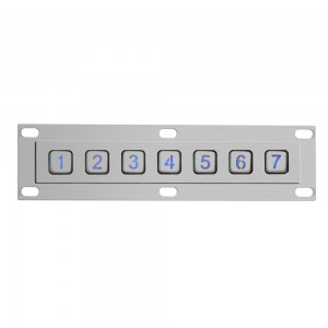 Exclusive use for elevator illuminated 7 keys keypad-B863