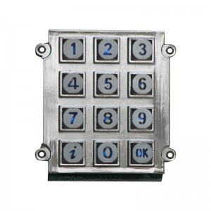 Zinc Alloy 3×4 LED matrix illuminated  keypad For CNC Machine Tools-B661