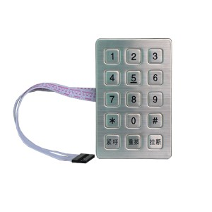 Industrial 3×5 matrix metal keypad-B722