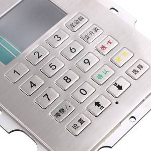 20 keys LCD china gas machine keypad with XH plug-B701