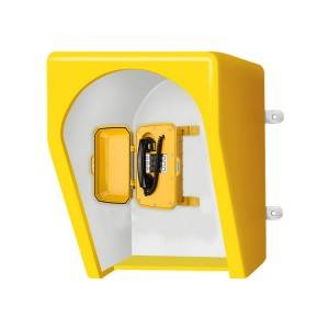 OEM & ODM Acoustic Booth Sound Proof Telephone Acoustic Hood for industrial telephone  JWAX002