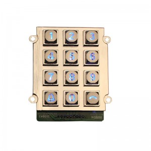 Silicone rubber programmable 3×4 12 keys keypad-B661