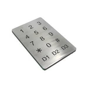 Waterproof access control system illuminated touch-screen control metal Keypad-B809