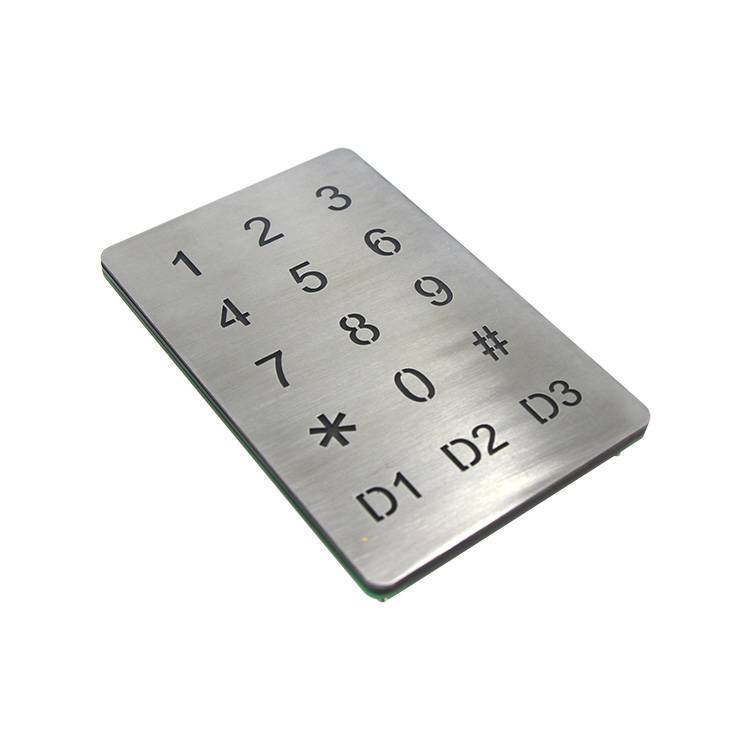 Waterproof access control system illuminated touch-screen control metal Keypad-B809 Featured Image