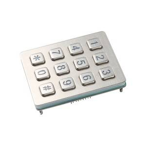 Backlight numeric weatherproof heavy duty industrial keypad -B880