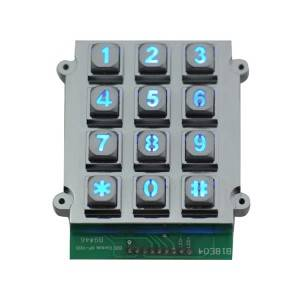 Mechanical keyboard metal rs232 door access control with keypad–B661