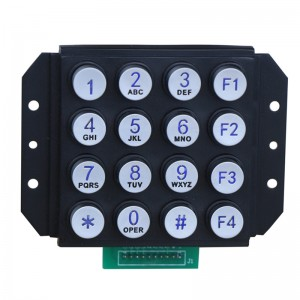 Round buttons illuminated telephone keypad-B664