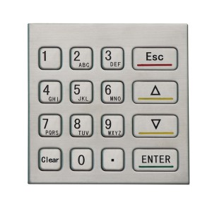 4X4 numeric metal waterproof keypad for garage door lock-B725
