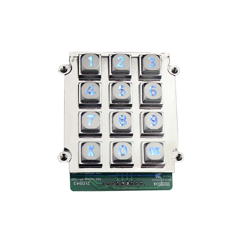 Metal keypad 3×4 numeric keypad dual relay keypad B661 Featured Image