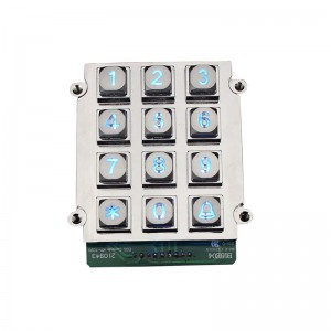 12 keys keypad for garage control system-B661