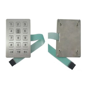 CNC machine stainless steel keypad with 15 shortcut keys-B722