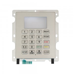 Customized stainless steel fuel dispenser FPC keypad-B701