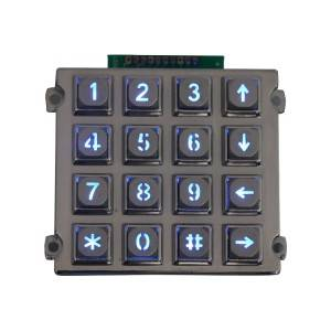 Payment Kiosk backlight anti-vandalism matrix keypad-B660