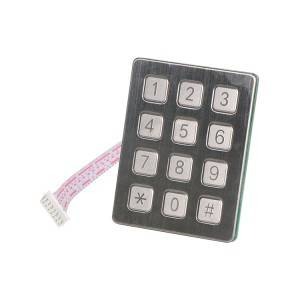 Matrix number waterproof food kiosk 12 keys keypad-B720