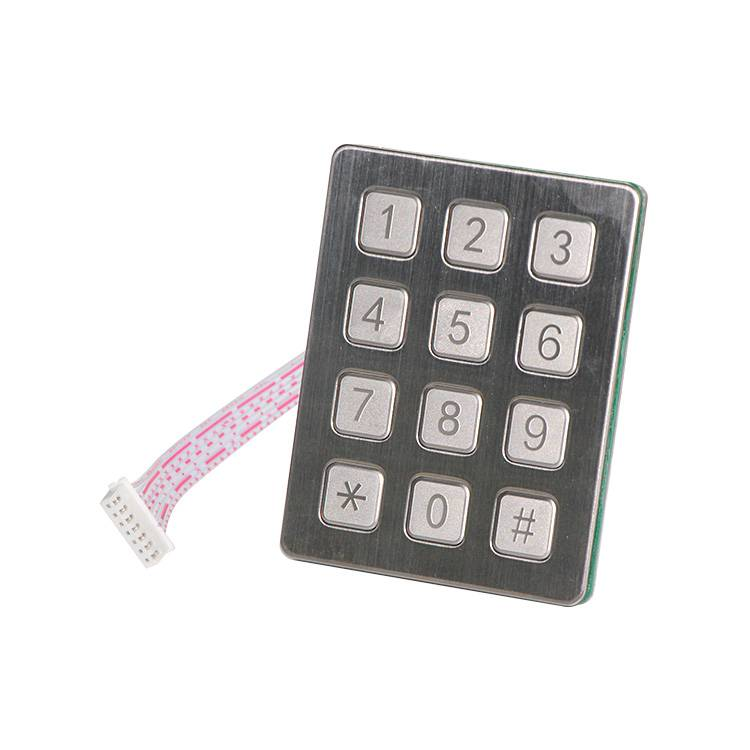 Stainless steel 12 keys payment kiosk outdoor keypad-B720 Featured Image