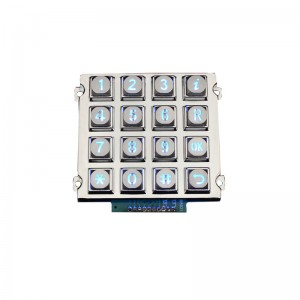 Industrial LED retroiluminada de metal teclado-B660