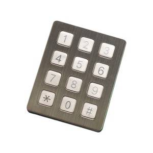 Stainless steel 12 keys payment kiosk outdoor keypad-B720