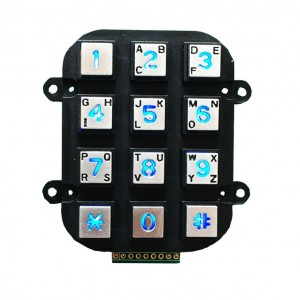 Anti-vandalism zinc alloy backlit keypad-B662