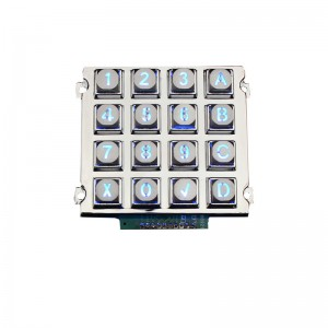 Industrial LED metal backlit keypad-B660