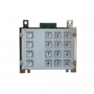 Anti-vandalism metal public phone keypad-B507