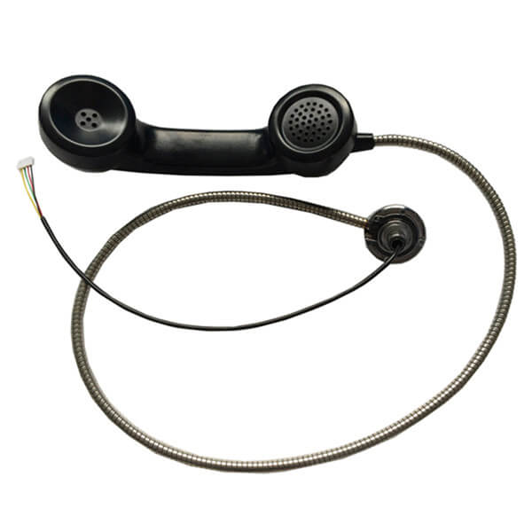 Industrial blue color payphone handset public phone accessory handset-A02 Featured Image