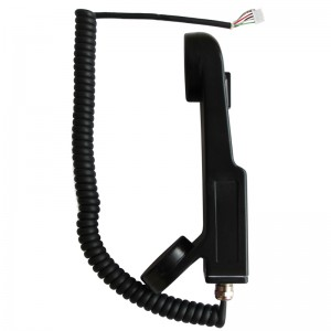 Peculiar shape vandal-proof handset of payphone parts-A12