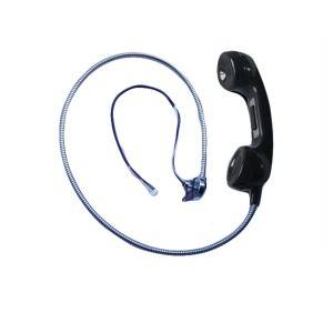 China with armoured cord payphone handset outdoor telephone handset school public telephone handset