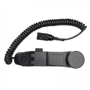 IP67 coiled cord anti-explosion air force usage handset-A25