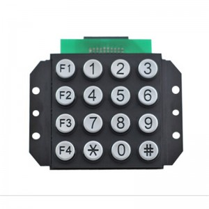 Highly quality waterproof and weatherproof zinc alloy 4×4 telephone outdoor keypad-B502