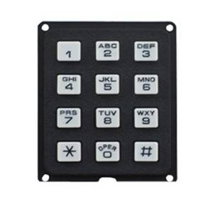 4×4 16 keys good design waterproof plastic numeric keypad