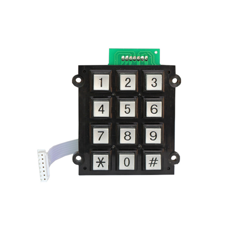 Weatherproof analog telephone keypad/Zinc alloy 4×3 numeric keypad -B501 Featured Image
