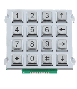 4×4 16 keys waterproof matrix zinc alloy keypad