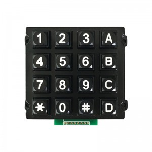 Rugged 16 keys 4×4 Matrix array Zinc Alloy keypad for self-service fuel dispenser-B512